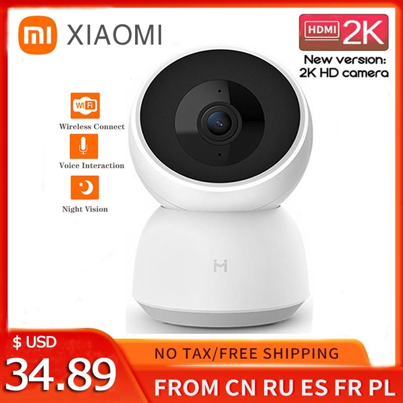 كاميرا شاومي مي الذكية 2K 1296P HD 360 زاوية واي فاي كاميرا ويب ليلية كاميرا فيديو IP كاميرات داخلية مراقبة أمن الطفل MiHome
