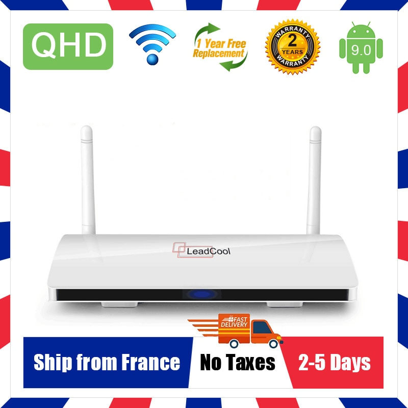 AliExpress - Leadcool QHDTV Amlogic S905W Android 9.0 Iptv Box ship from France Warehouse 4K 2.4G Wifi Smart IP TV Box H.265 Android TV Box