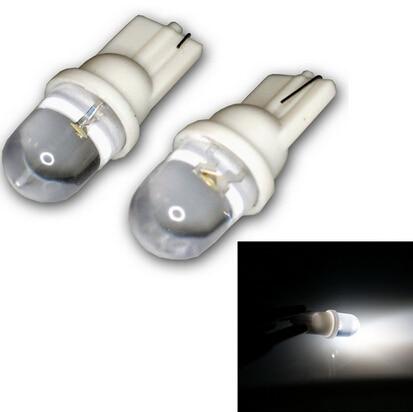 2pcs T10 194 W5W 1 LED Pure White Dome Instrument Car Light Bulb Lamp Car Interior Lights Cat Reading Light