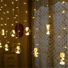2.5M Led Kerst Dromerige Wens Bal Muur Gordijn Lamp Fairy Light Holiday Wedding Party Licht Kerstboom Decoratie KG134