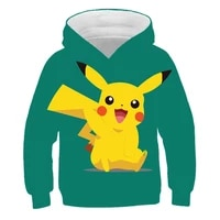 detective pokmon childrens coat hoodie for girls sweatshirts for boys cosplay kids clothes anime clothes jacket for girls top