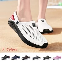 summer new womens and mens slippers breathable lightweight beach sandals quick dry casual home slippers couple shoes