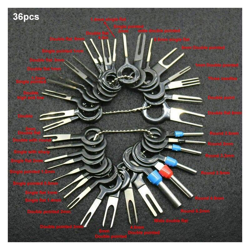Ferramentas de remoção de terminal de extrator de pino, 36/26/18 peças, conjunto de ferramentas de remoção de conector de fiação elétrica, kit de ferramentas manuais dropshipping,