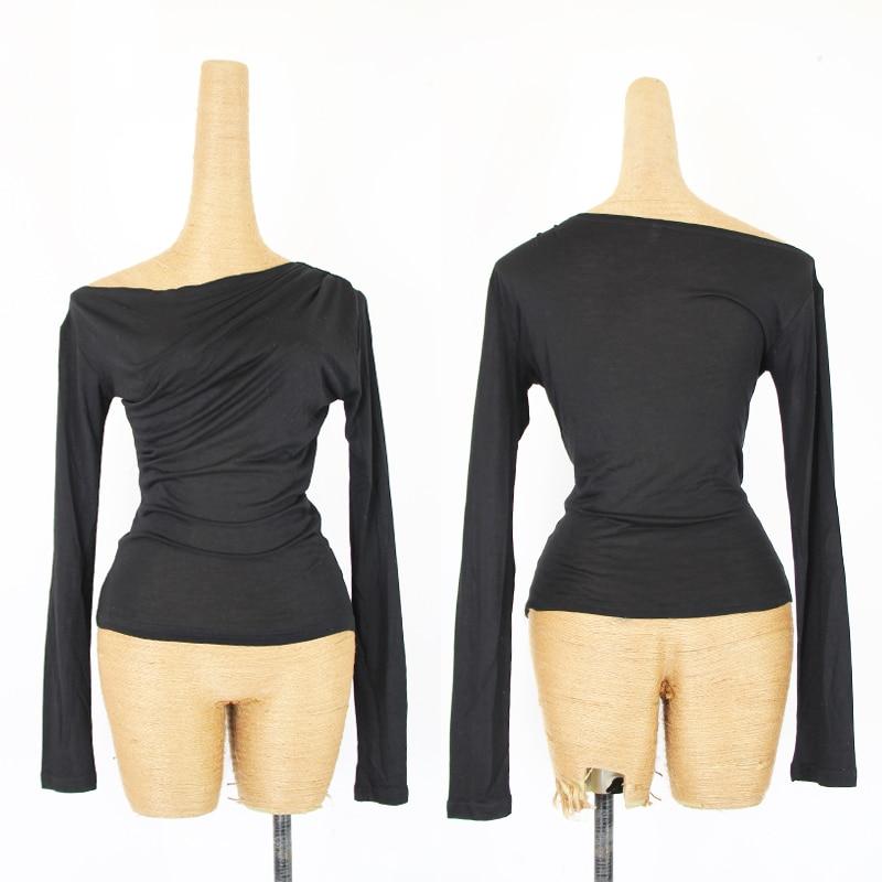 Trajes de baile latino para mujer ropa de práctica de manga larga camisa de baile Latino danza femenina DQL2935
