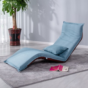 Creative Lazy Sofa Single Couch Long Folding Folding Washable Window Chair Leisure Back Japanese Cloth Recliner