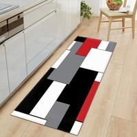Длинный коврик для кухни, современный коврик с 3d-рисунком, нескользящий коврик для входной двери, спальни, гостиной, ванной комнаты