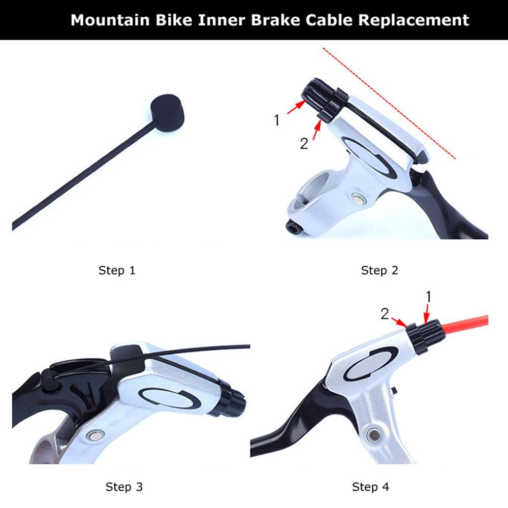 1PC מצופה הסטת אופני כבל עבור MTB כביש אופניים שיפטר בלם קדמי אחורי הילוכים בלם כבל 2100mm 1550mm 1700mm 1100mm