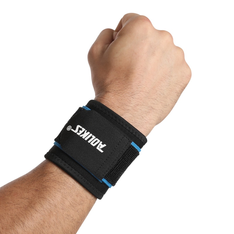 AOLIKES 1PCS Ginásio Cintas de Bandas de Pulso Apoio para o Punho Esportes Protetor de mão Wraps para Levantamento de Peso GINÁSIO Neoprene ourdoor recommeded