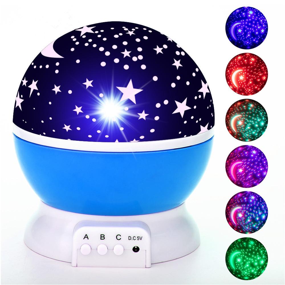 Galaxy Projector Starry Sky LED Night Light Children Projector Starry Star Bedroom Star Night Lights Moon Light Kids Gift Lamp