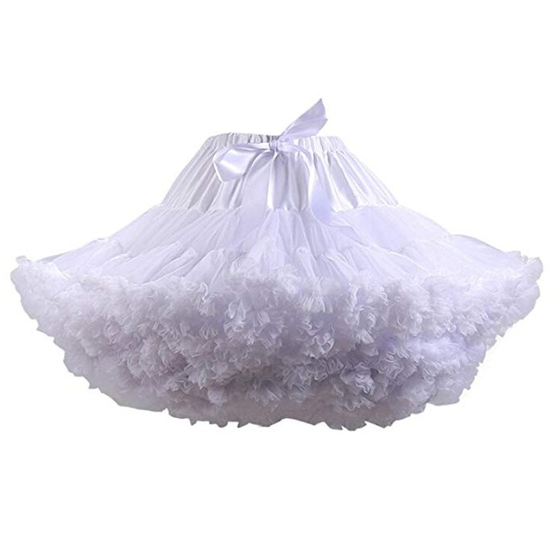 Petticoats wedding bridal crinoline lady girls underskirt for party putih biru hitam tarian rok tutu