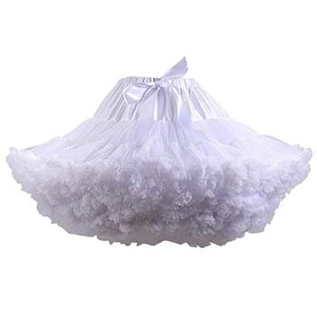 Nouveauté jupons mariage mariée Crinoline dame filles sous-jupe pour fête blanc bleu noir Ballet danse jupe Tutu