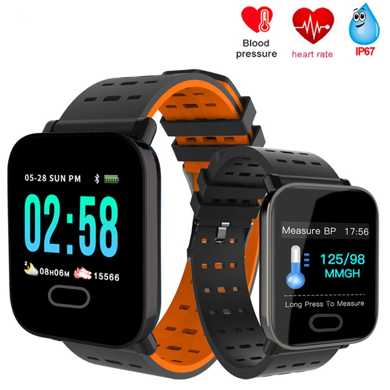 A6 Smart Watch with Heart Rate Monitor Fitness Tracker Blood Pressure Smartwatch Waterproof For Android IOS