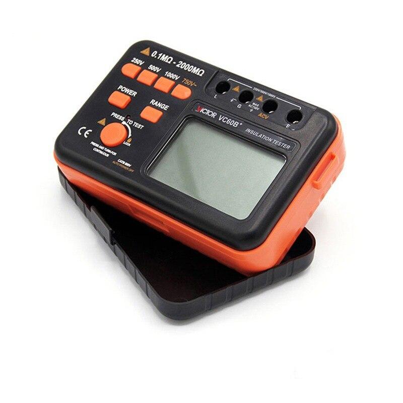 Multímetro Digital de resistencia de aislamiento probador Original de 1000V probador de aislamiento megger CC/CA 0,1 ~ 2000m ohm