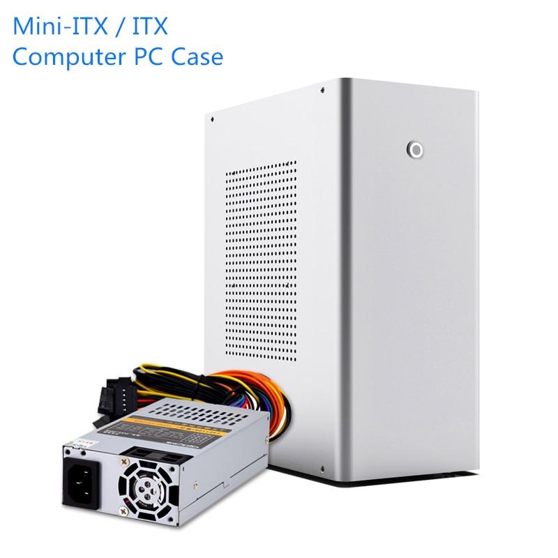L1 mini-itx/ITX coque dordinateur aluminium bureau HTPC châssis 1U FLEX alimentation USB3.0 Home cinéma PC jeu petit boîtier