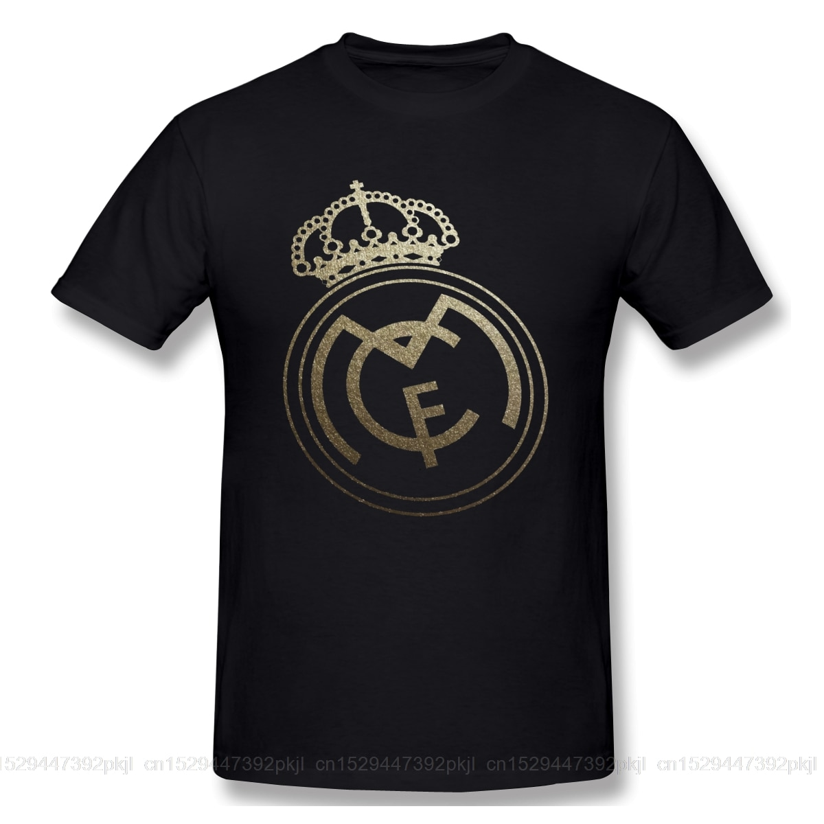 Amarillo Real Madrided señal divertida camiseta hombres mujeres verano O cuello Casual algodón camiseta gráfica Camiseta con cuello redondo
