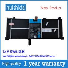 7,4 V 27WH JD33K Neue Original laptop batterie für Dell XPS 10 0FP02G 21TTR serie