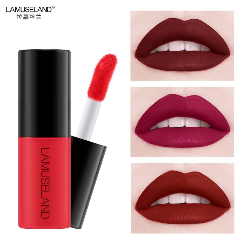Longa duração brilho labial feminino maquiagem lipgloss 12 cores de longa duração fosco mini batom líquido gloss labial quente 2020 tslm1