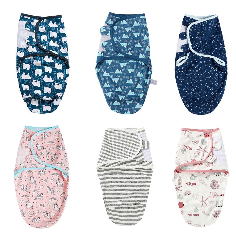 New Born Boy Girl Babies Sleeping Bags Newborn Baby Muslin Cocoon Swaddle Blanket Infant Cotton Sleep Sack Swaddle Wrap Up