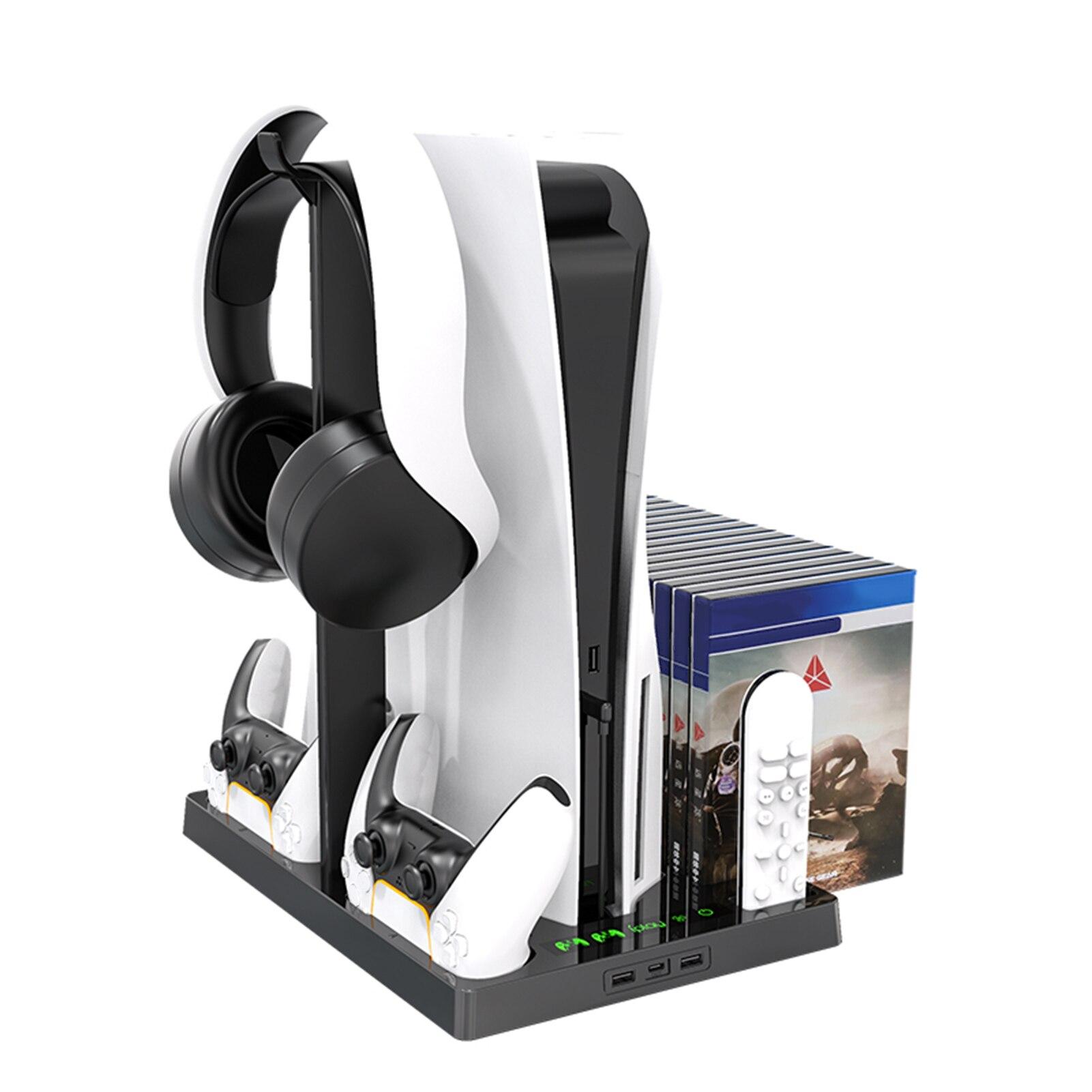 Soporte de ventilador de refrigeración Vertical para consola PS5, estación de controlador...