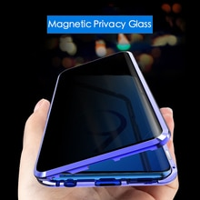 Pour Samsung Galaxy Note 10 Plus S10 étui magnétique confidentialité film trempé couverture magnétique pour Samsung S8 S9 Plus Note 8 9 A50 A70