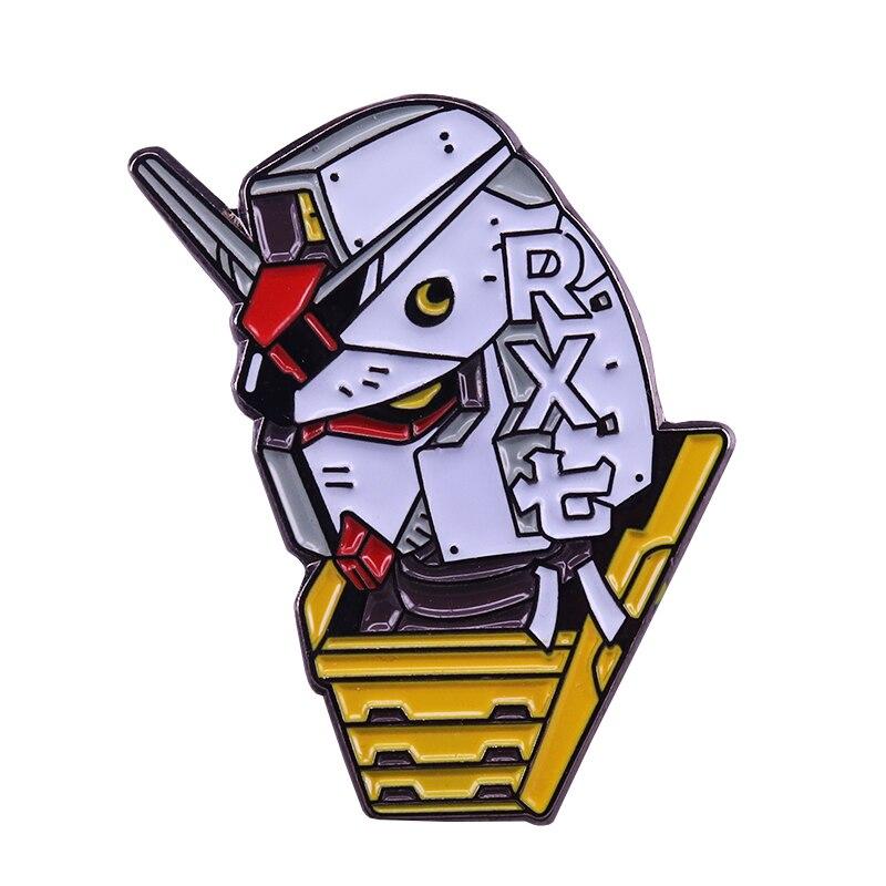 Gundam RX-78 pin de esmalte Japón robot anime regalo estético idea