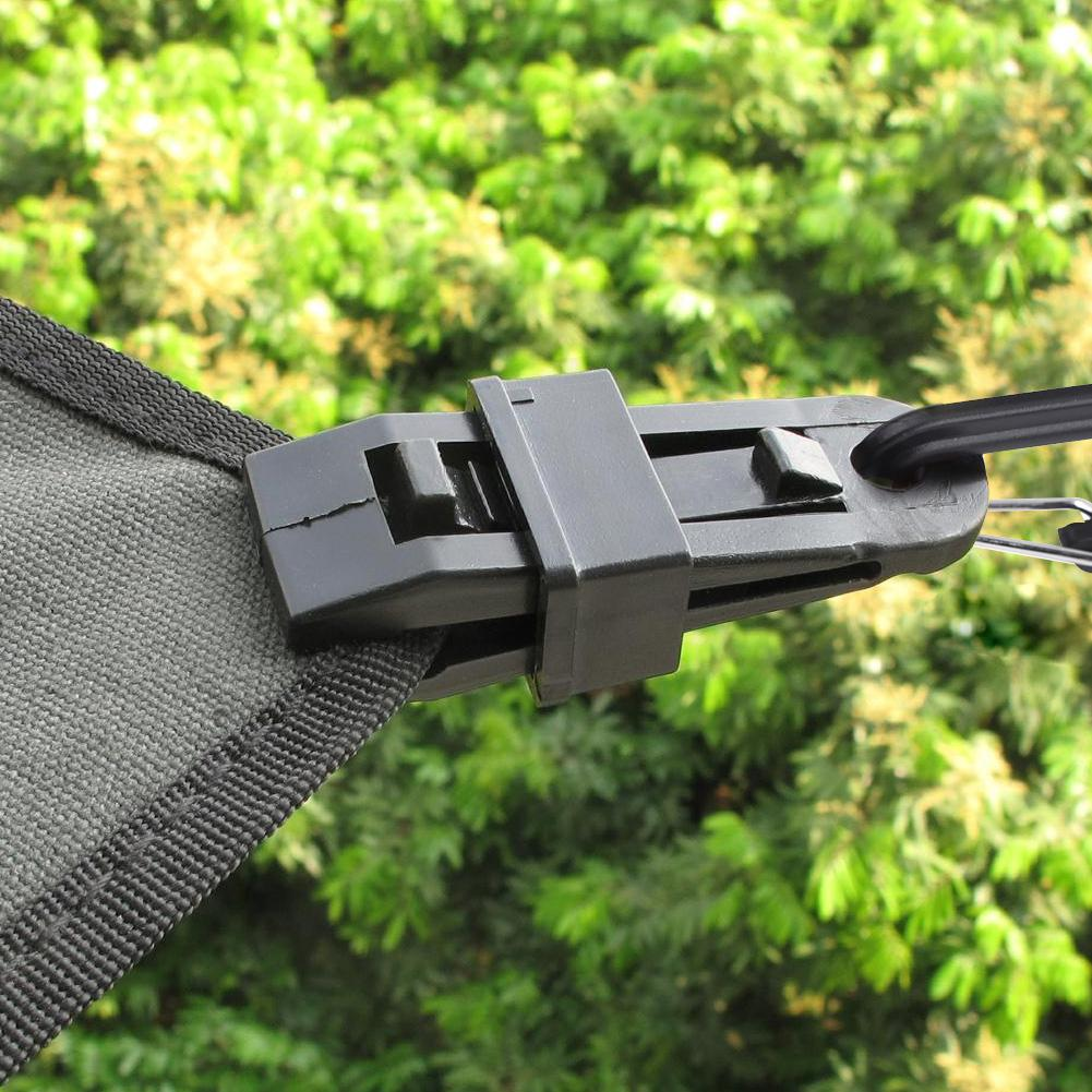 Tent Clips Clamp Camping tent Tarp Clips Canopy Clamp Kit Awning Set Cover Car Boat Snap Barb Clip Outdoor Camping