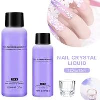 acrylic liquid monomer crystal acrylic nail art nail extension carving non yellowing for acrylic powder dust nails 75ml120ml
