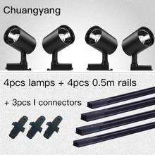 Conjunto completo de sistemas de iluminación LED para el hogar, luces COB de 12/20/30/40W, lámparas en T para tienda