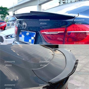 Use For BMW X6 F16 Spoiler 2015--2019 Year Psm Style Real Glossy Carbon Fiber Rear Wing Sport Body Kit Accessories