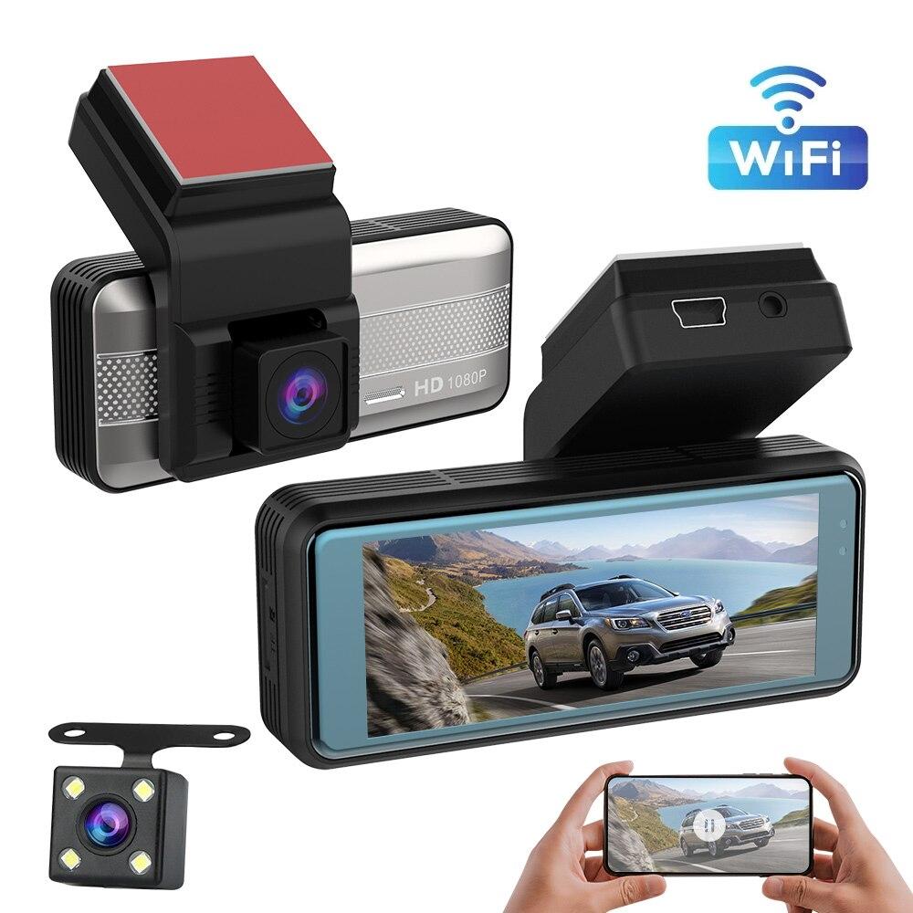FHD Автомобильный видеорегистратор, Автомобильный видеорегистратор с двойной записью, видеорегистратор 1080P 170 °, видеорегистратор с ночным в...