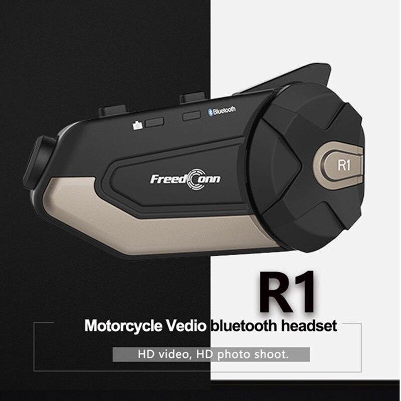 Intercomunicador con Bluetooth para motocicleta, dispositivo de comunicación completo con HUD 1080,...