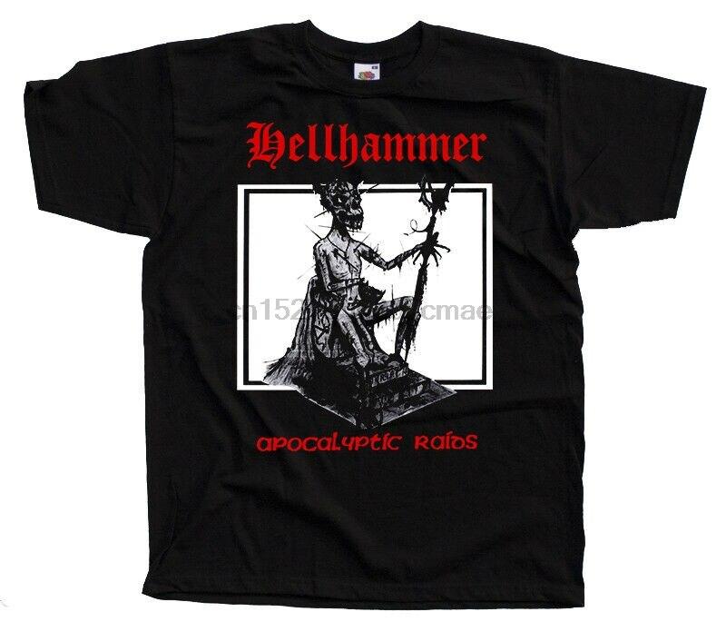 Hellhammer-apocalíptico redadas camiseta con portada del disco DTG (negro) S-5XL