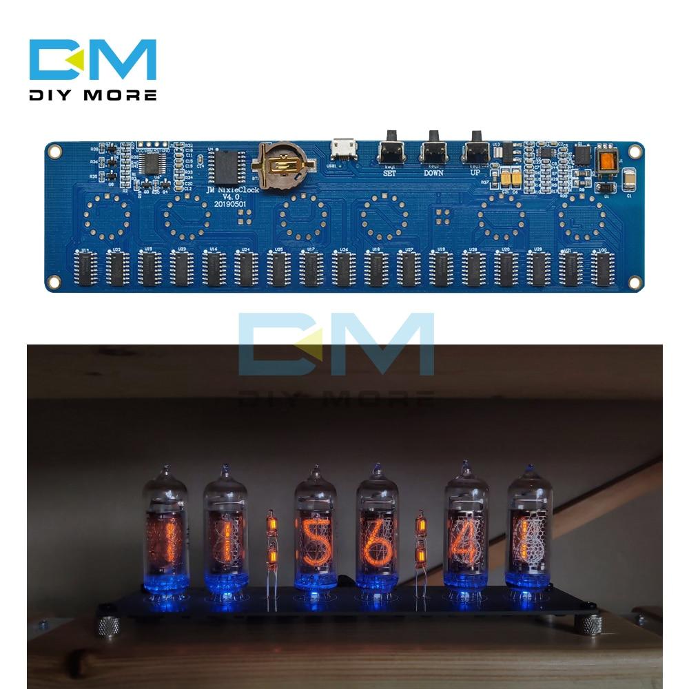 5 فولت الإلكترونية DIY بها بنفسك عدة in14 Nixie أنبوب وحدة الرقمية ساعة ليد هدية لوحة دوائر كهربائية عدة PCBA لا أنابيب