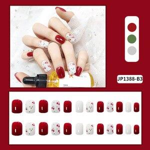 Artificial Fake Short Fingernails Nail Full Cover Fake Fingernails Nail Art Salon DIY For Women SK88