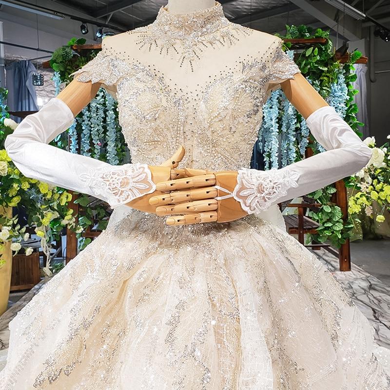 JANCEBER barato mujeres guantes de novia Simple blanco boda guante encaje boda accesorios ópera longitud accessoire mariage