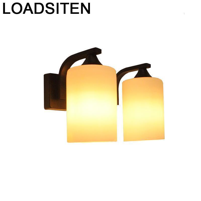 Lampen moderna Cama Vintage lámpara Luminaria Parede lámpara De Interior para el...