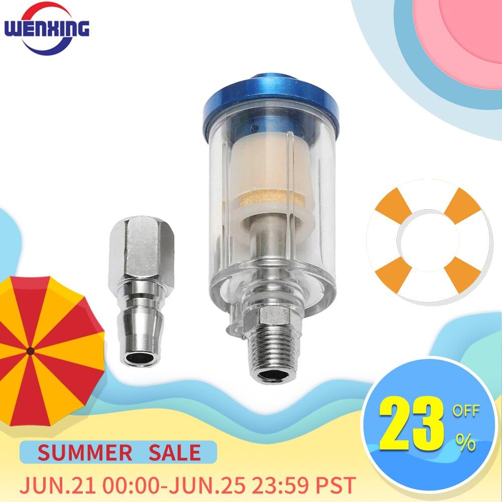 AliExpress - WENXING 1/4″ Water Oil Separator Inline Air Hose Filter Moisture Trap For Compressor Spray Paint Gun Pneumatic Tool Parts