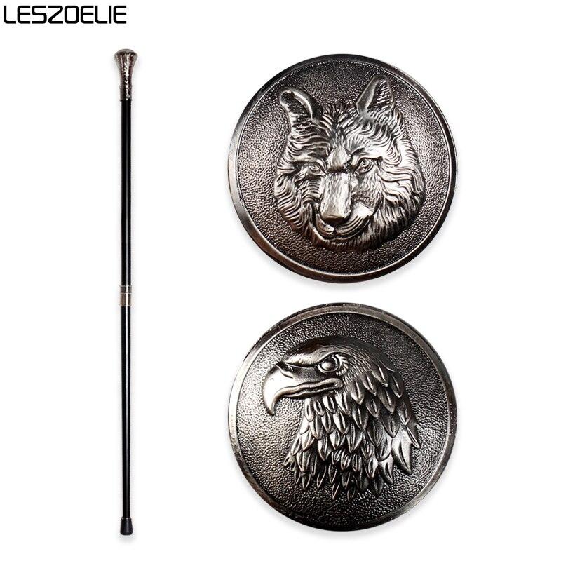 Bastón de lujo con cabeza de águila para caminar para hombre, moderno bastón decorativo con cabeza de Lobo, elegante bastón de mano Vintage