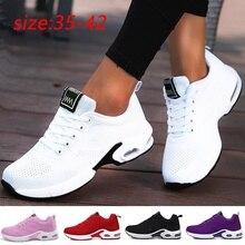 Mode Vrouwen Lichtgewicht Sneakers Loopschoenen Outdoor Sportschoenen Ademend Mesh Comfort Loopschoenen Luchtkussen Lace Up
