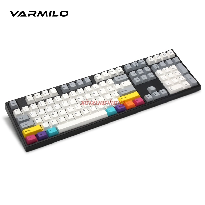 Varmilo CMYK MA87 87key لوحة المفاتيح الميكانيكية السلكية ثابت السعة محور V2 الأبيض الخلفية لوحة مفاتيح الألعاب الكمبيوتر