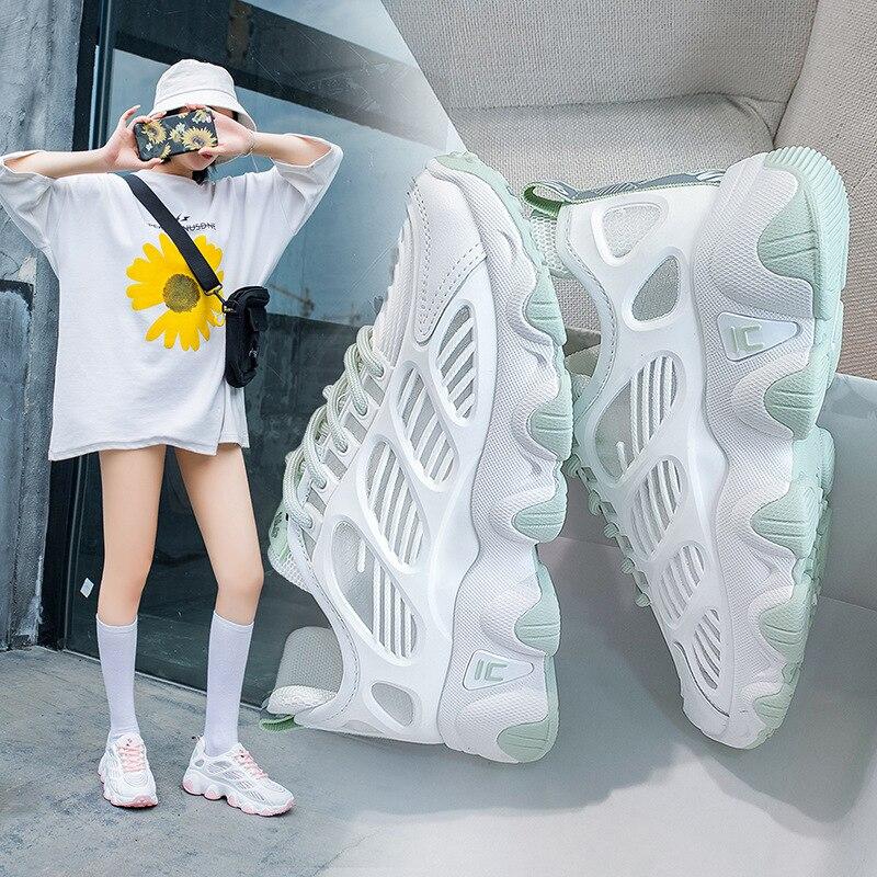 Zapatillas de deporte para mujer, zapatos informales para mujer, zapatos de moda para mujer, tenis para mujer, zapatillas blancas, cestas para mujer