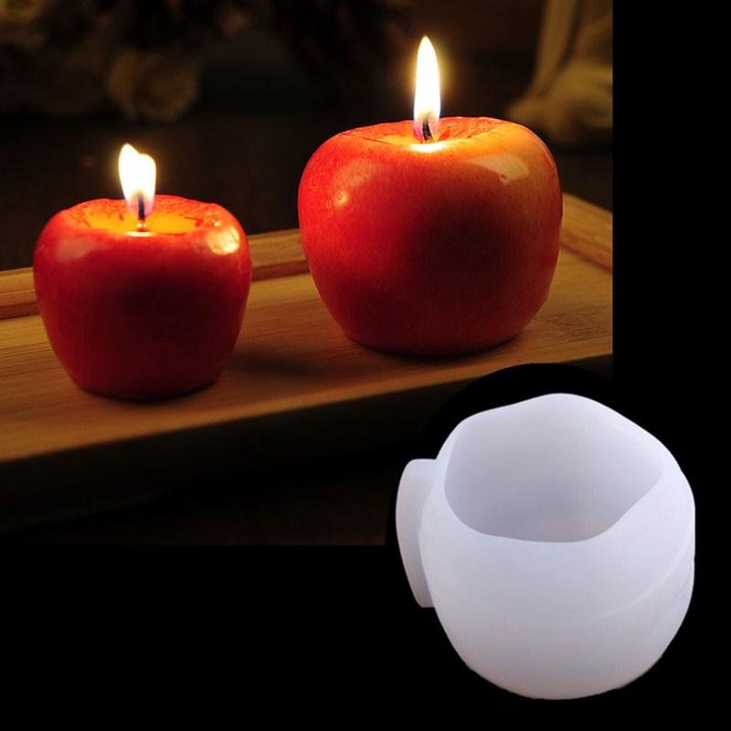 Apple shape silicone mold DIY fondant, soap, candle, plaster mold Decoration tool