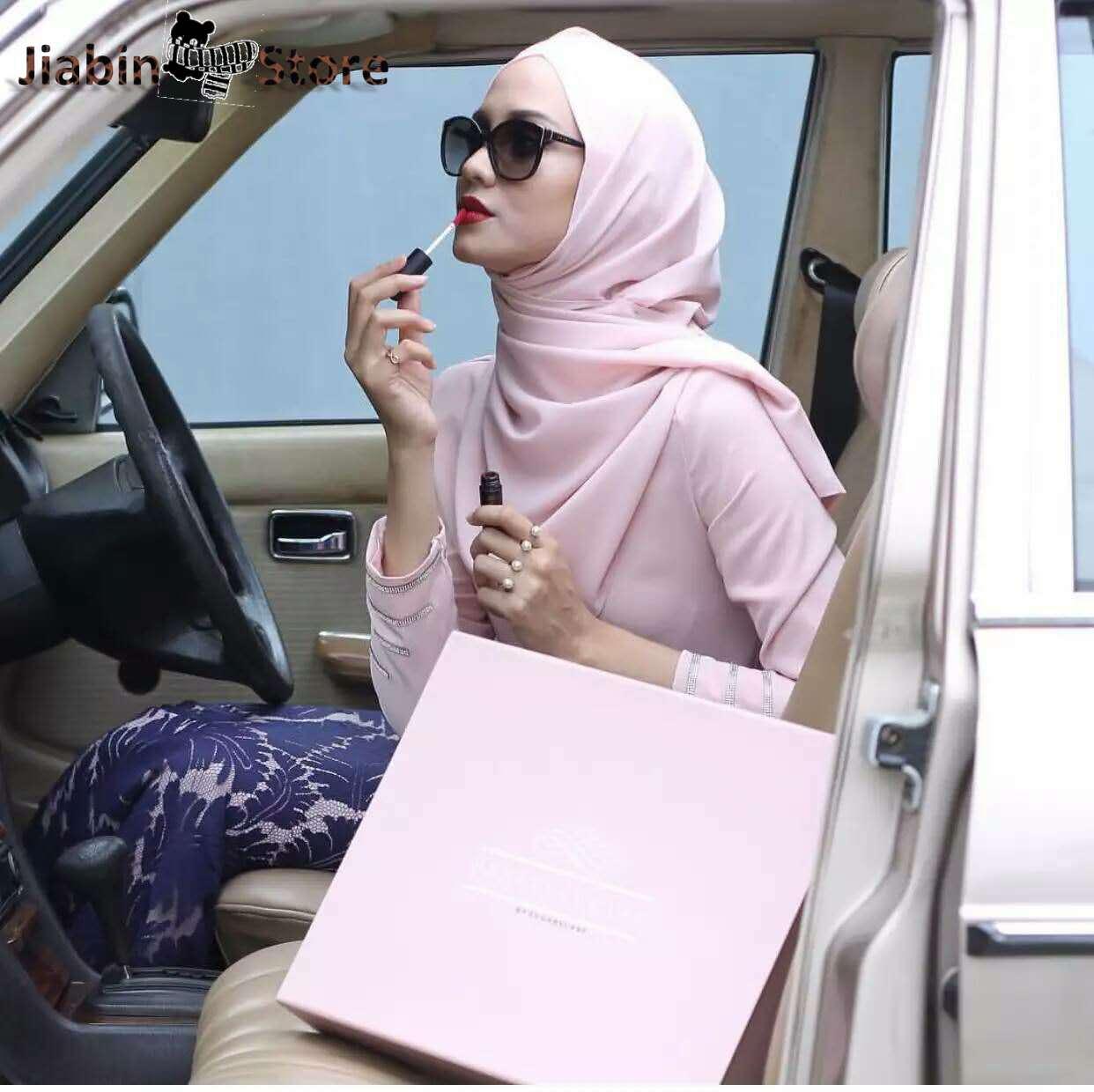 Luxo macio bolha chiffon muçulmano envoltório xale cabeça cachecol femme mussulman imediato hijab liso islâmico árabe turbante foulard