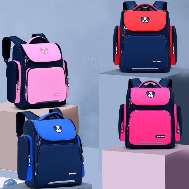 Детские школьные ранцы подгоняются для учеников начальной школы. Корейский легкий рюкзак для мальчиков и девочек оптом