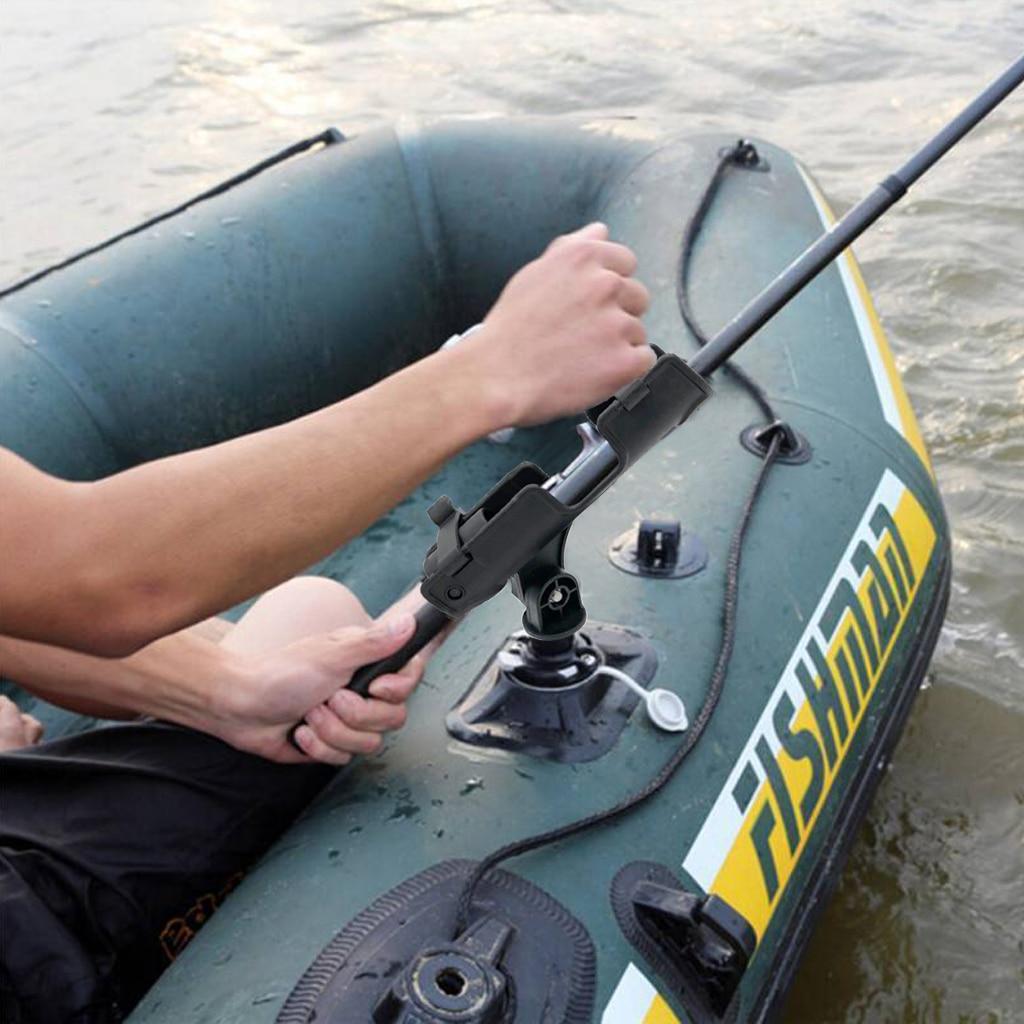 Soporte para caña de pescar de 2 uds. Para Kayak, bote, balsa, barco, estante de soporte ajustable de 360 grados con soporte