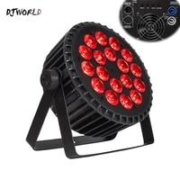 4pcslot aluminum led par 18x18w18x12w rgbwauv light dmx 512 control stage effect lighting for dj disco theater party lights