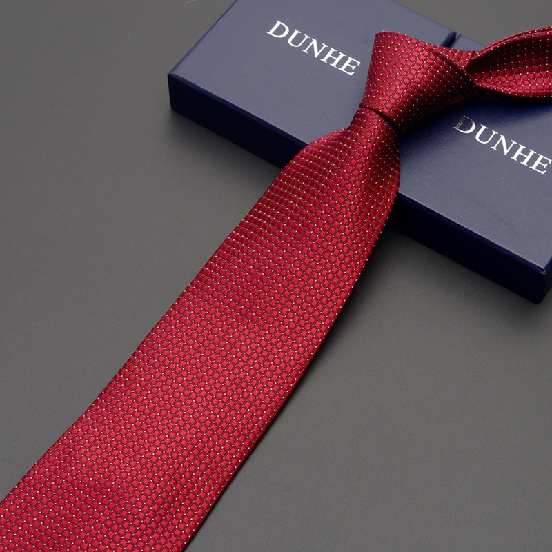 High Quality 2019 New Fashion Ties Men Business 9cm Black Gray Silk Tie Work Wedding Ties for men Designers Brand with Gift Box