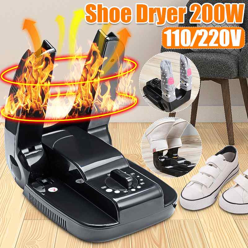 200w inteligente secador de sapato elétrico secagem aquecedor máquina portátil dobrável temporizador para sapatos botas luvas capacete meias