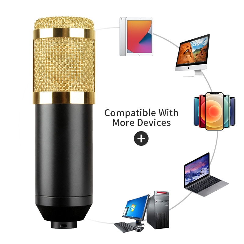 BM800 Condenser Microphone Professional Studio Recording Microphone for Stream Podcasting   Gaming Karaoke PC Microphone enlarge