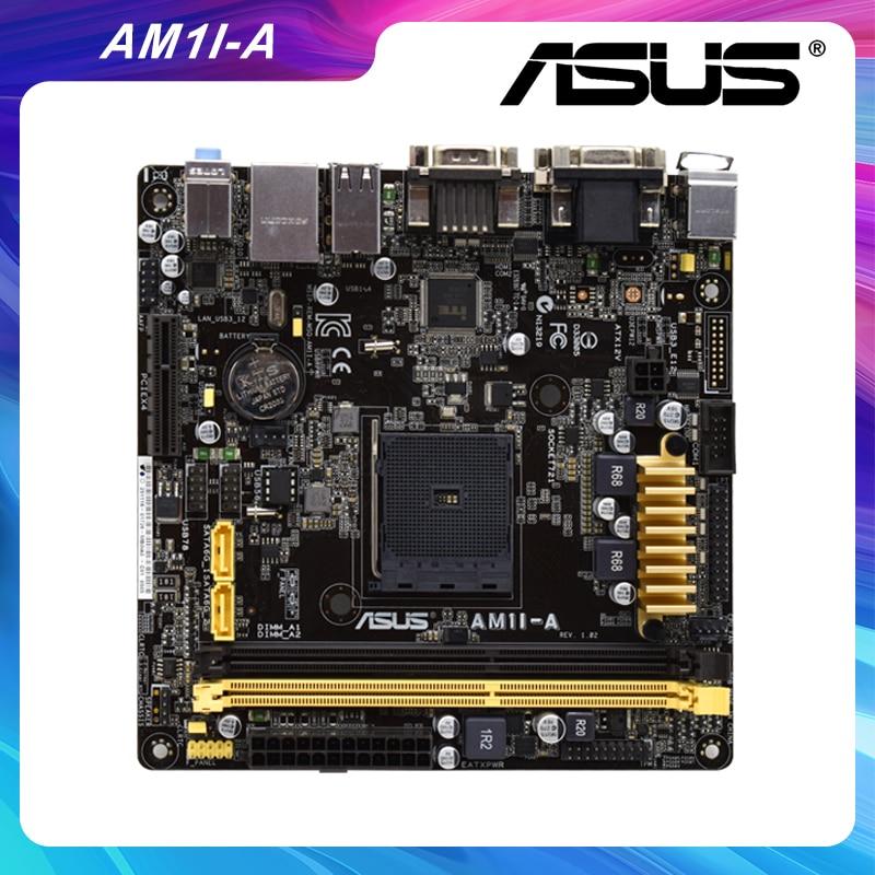Promo For ASUS AM1I-A For AM1 Mini ITX APU Desktop Motherboards 17*17 DDR3 32GB AMD HDM USB3.0 SATA3 PCIe 2.0 x4 mini pc motherboard